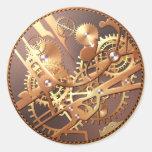 el reloj del steampunk adapta a los pegatinas pegatina redonda