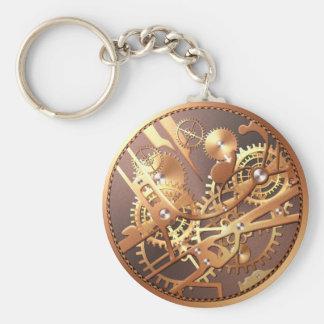 el reloj del steampunk adapta llavero