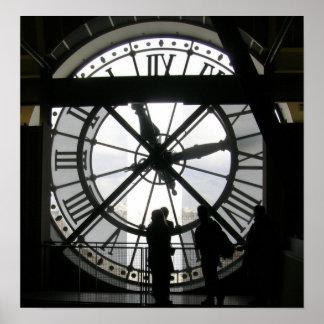 El reloj en Musee d Orsay Posters
