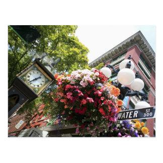 El reloj famoso del vapor en Gastown - Vancouver, Tarjetas Postales