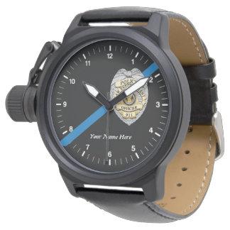 El reloj fino del oficial de policía de Blue Line