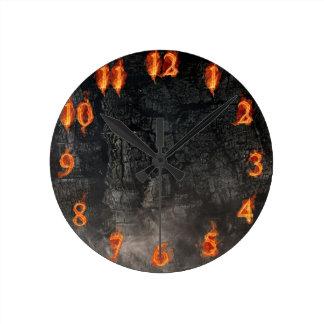 El reloj Firey del fuego flamea el reloj de pared