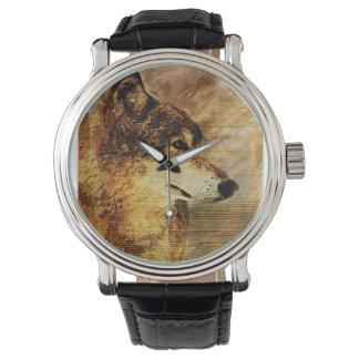 El reloj negro de los hombres con el ejemplo del
