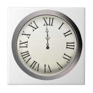 El reloj pega Noche Vieja de medianoche Azulejo Ceramica