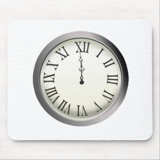 El reloj pega Noche Vieja de medianoche Alfombrilla De Raton