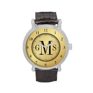 El reloj personalizado de los hombres elegantes
