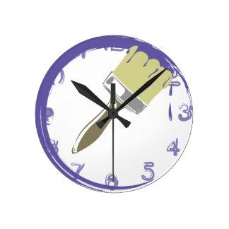 El reloj pintado, colorea la VIOLETA
