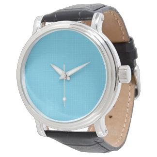El reloj W01B del fondo de la aguamarina de los