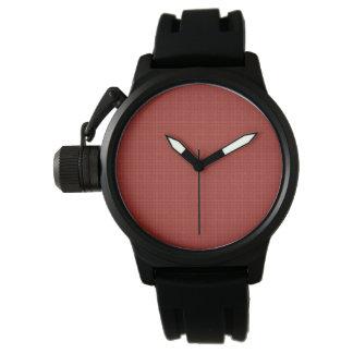 El reloj W08B del fondo de los hombres rojos del