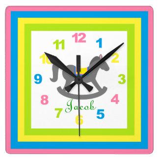 El reloj w/Numbers del niño personalizado (de CUAL
