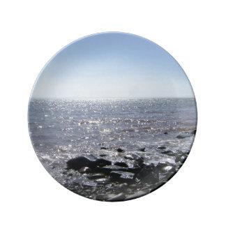 """El """"relucir riega"""" la bahía de la placa decorativa plato de cerámica"""