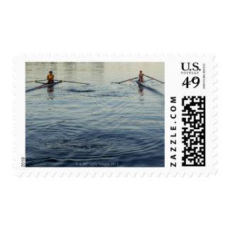 El remar de la gente timbres postales