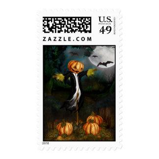 El remiendo de la calabaza - franqueo de Halloween