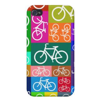 El remiendo monta en bicicleta arte iPhone 4 protector