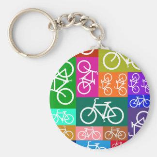 El remiendo monta en bicicleta arte llaveros personalizados