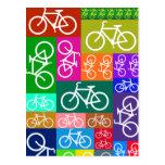 El remiendo monta en bicicleta arte postal