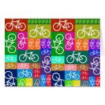 El remiendo monta en bicicleta arte tarjeta de felicitación