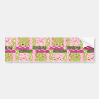El remiendo verde rosado bonito ajusta el modelo d pegatina para auto