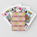 El remiendo verde rosado bonito ajusta el modelo d cartas de juego