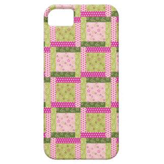 El remiendo verde rosado bonito ajusta el modelo d iPhone 5 Case-Mate carcasa