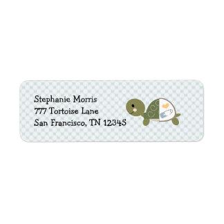 El remite de la tortuga del bebé etiqueta personal etiquetas de remite