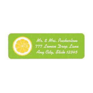 El remite del corazón del limón de la cal etiqueta etiquetas de remite