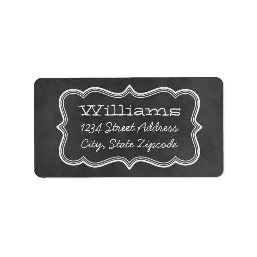 El remite etiqueta diseño de la pizarra del   etiqueta de dirección