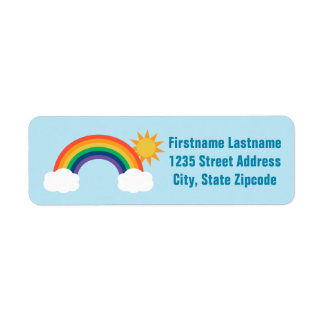 El remite etiqueta diseño del arco iris del   etiquetas de remite
