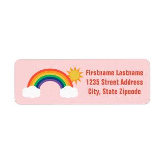 El remite etiqueta diseño del arco iris del   etiqueta de remite