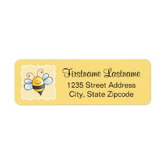 El remite etiqueta el | abejorro amarillo etiquetas de remite