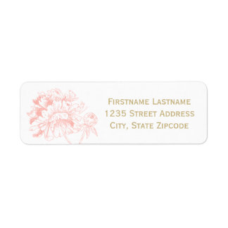 El remite etiqueta el | el diseño coralino del etiqueta de remite