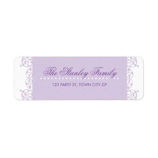 El REMITE ETIQUETA rizos bonitos la púrpura violet Etiqueta De Remite