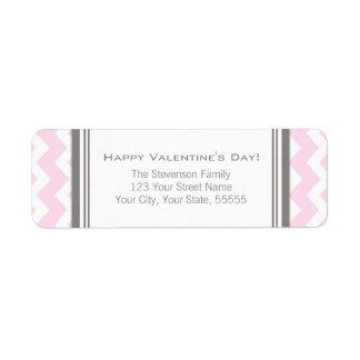 El remite feliz del día de San Valentín etiqueta r Etiqueta De Remite