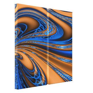 El remolinar y anaranjado lona envuelta fractal az lona estirada galerías