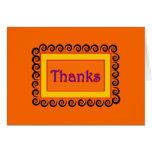 El remolino anaranjado agradece la nota tarjeton