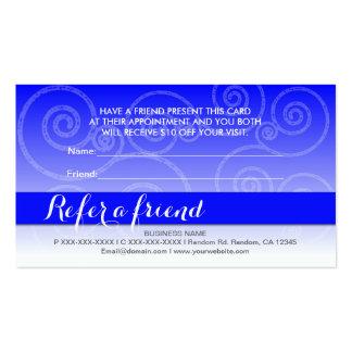El remolino blanco azul refiere tarjetas de un tarjetas de visita