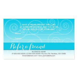 El remolino blanco del trullo refiere tarjetas de tarjetas de visita