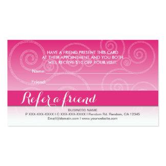 El remolino blanco rosado refiere tarjetas de un tarjetas de visita