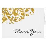 El remolino del Flourish del oro le agradece Felicitacion
