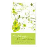 El remolino floral del hibisco verde elegante trag