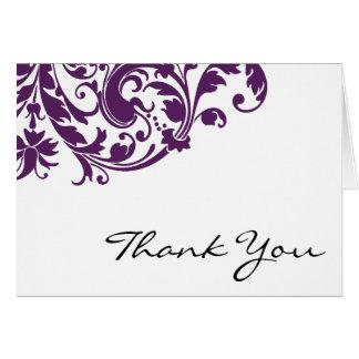 El remolino púrpura del Flourish le agradece Tarjeta Pequeña