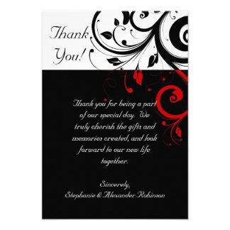 El remolino reverso negro blanco rojo le agradece invitacion personal