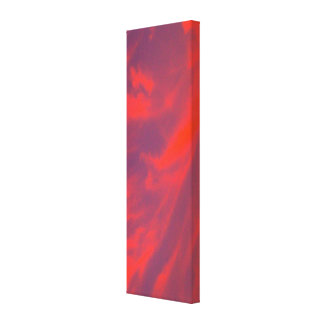 El remolino rojo del cielo estiró la impresión de lona envuelta para galerias