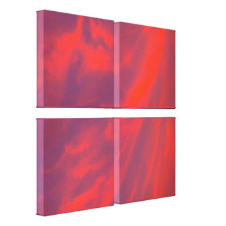 El remolino rojo del cielo estiró la impresión de impresión en lienzo estirada