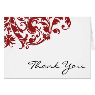 El remolino rojo del Flourish le agradece Tarjeta Pequeña