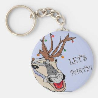 ¡El reno de Navidad nos dejó ir de fiesta! Llavero