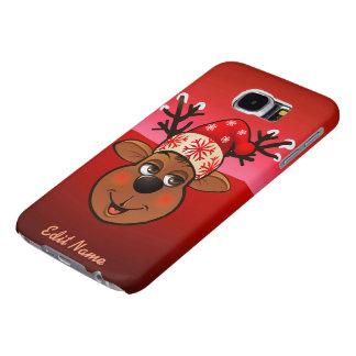 El reno de Papá Noel de encargo Fundas Samsung Galaxy S6
