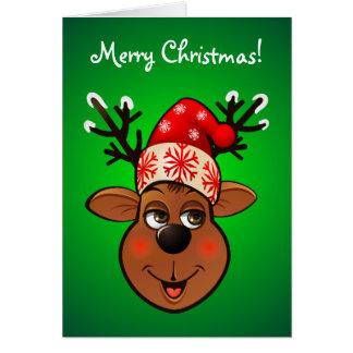 El reno de Papá Noel de encargo Tarjeta De Felicitación