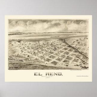 El Reno, OK Panoramic Map - 1891 Poster
