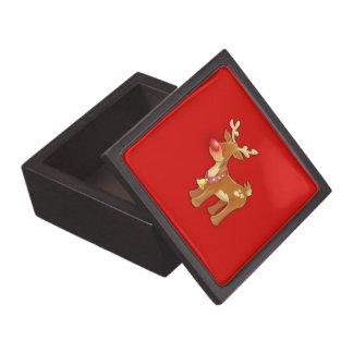 el reno sospechado rojo cajas de recuerdo de calidad